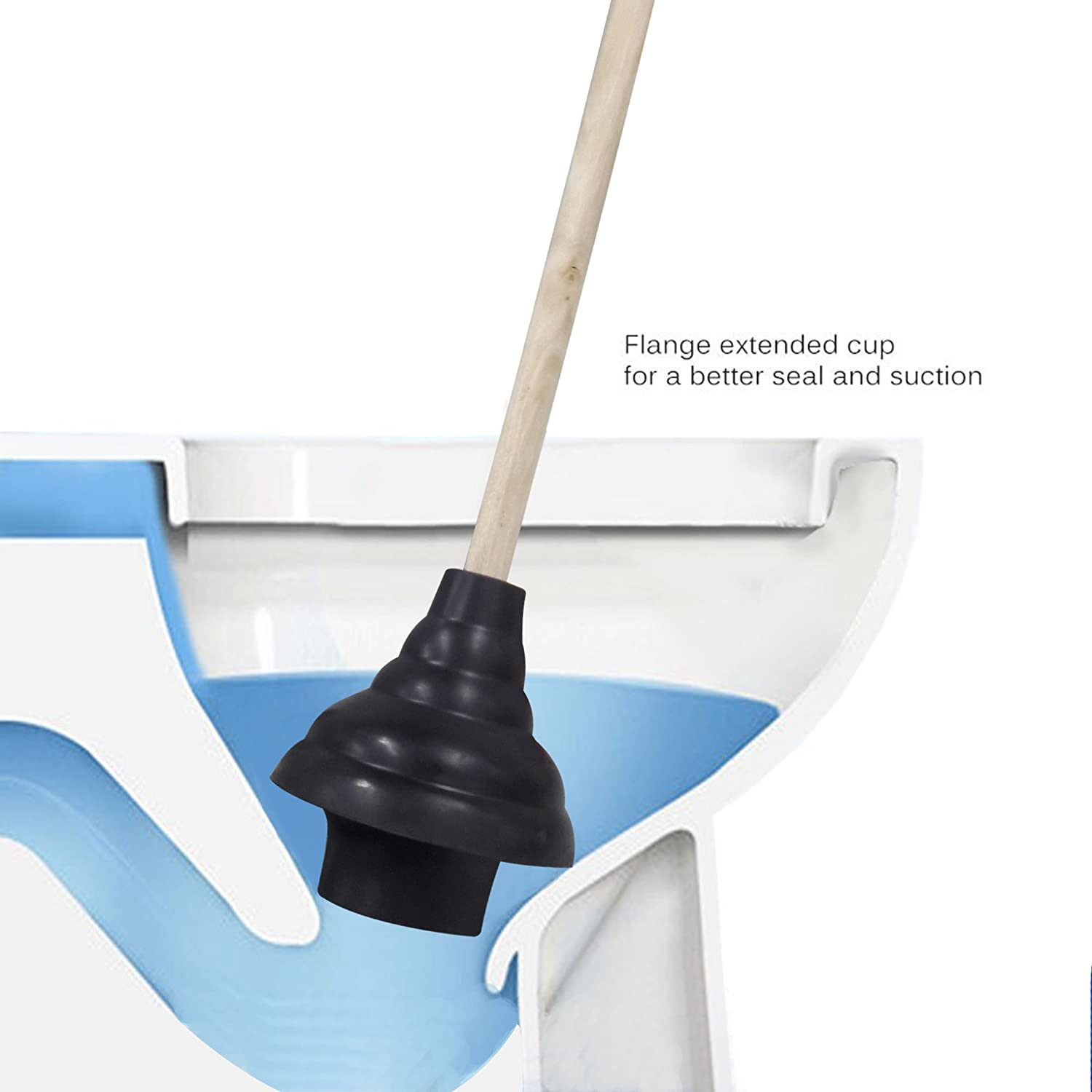Sinks /& Drain Clogs Use in Homes Commercial /& Industrial Buildings PL10091701 HAUTMEC Rubber Toilet Plunger for Bathroom