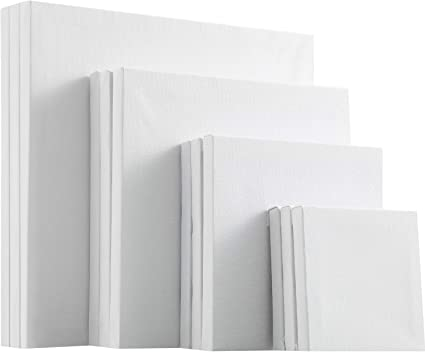 6 Pieces 18 x 24 inches White Time 4 Crafts Pre-Stretched Blank Cotton Canvas