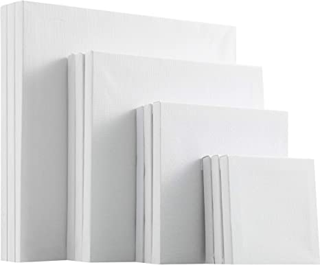 12 Pieces Assorted Size Mini Art Canvas Stretched for Craft Painting Drawing 4 x 6 Inches// 5 x 7 Inches// 8 x 10 Inches// 9 x 12