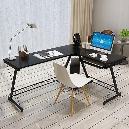 JH - Mesa de oficina, fabricada en madera para oficina con soporte ...