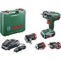 Bosch 06039A3400 Perceuse à percussion Advancedimpact 18 1 Batterie 18V 1, 5 Ah, Système Quicksnap 3 Adaptateurs, Vert