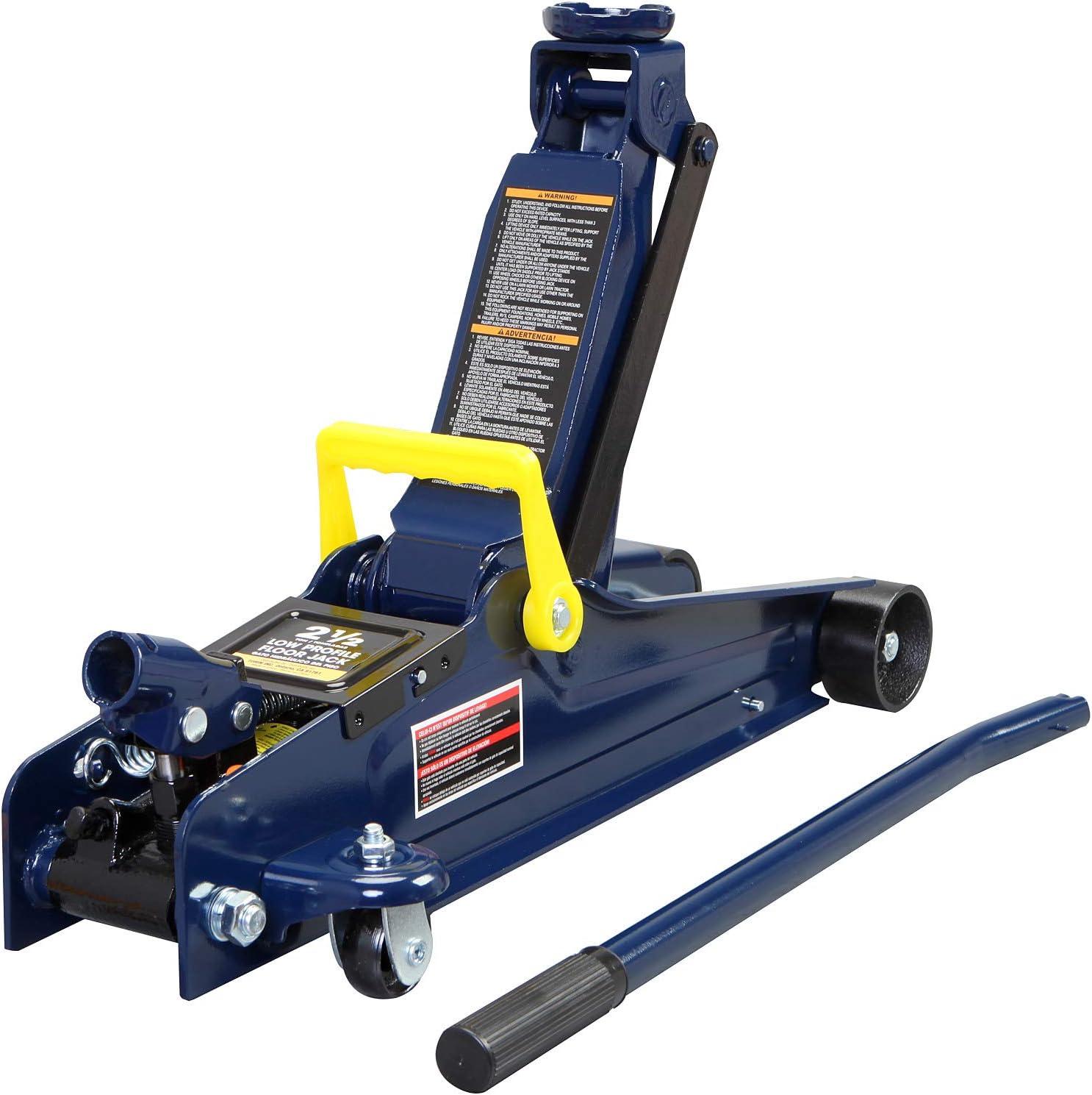 Blue Capacity TCE ATR4053U Torin Hydraulic Garage//Shop Telescoping Transmission Floor Jack: 1//2 Ton 1,000 lb