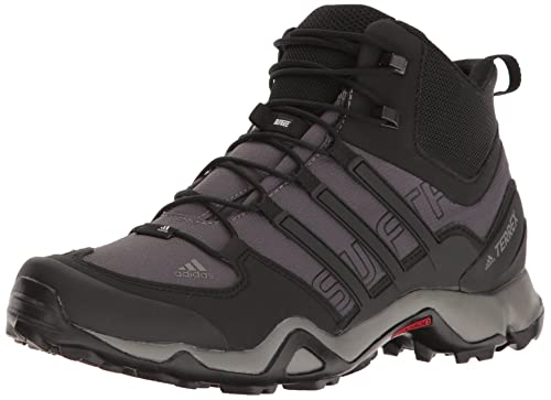7c808178b Adidas Terrex Swift R Mid Boot Mens Hiking 8 Granite-Black-Solid Grey