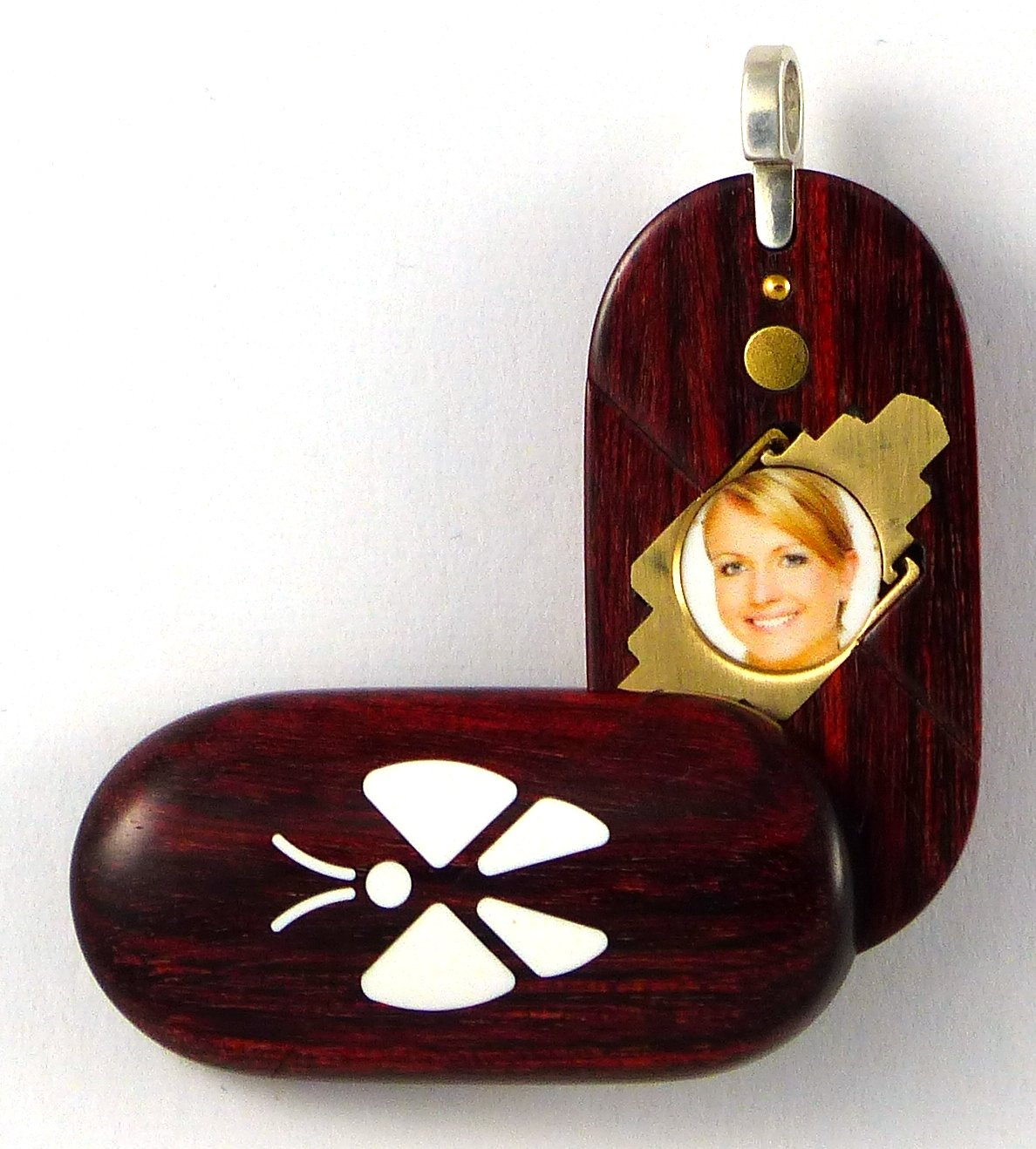 Illusionist Locket Unique Magic Butterfly Wood Pendant By Illusion Lockets