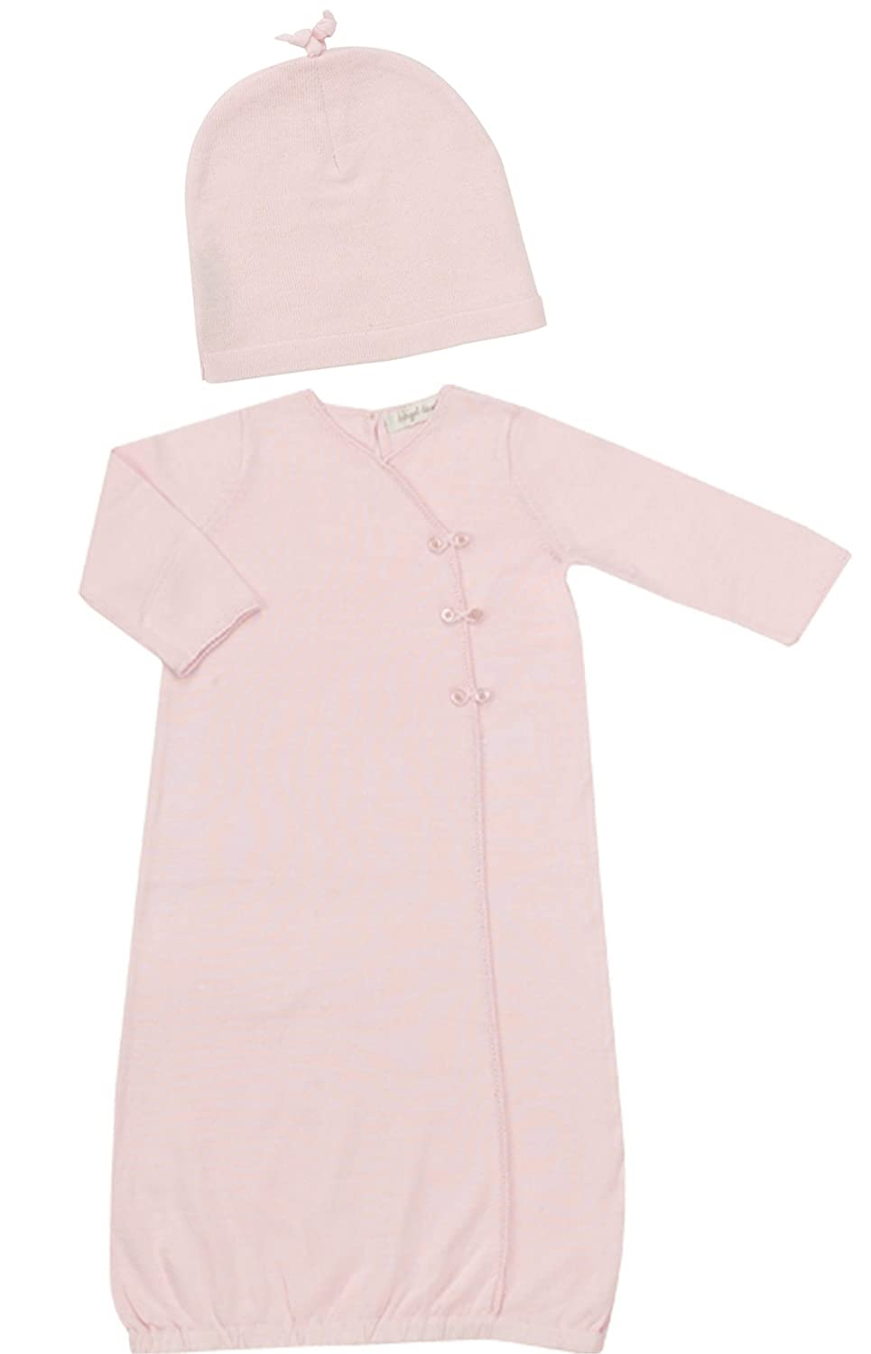 Amazon.com: Angel Dear Baby Girls Knit Sweater Layette Gown & Hat ...