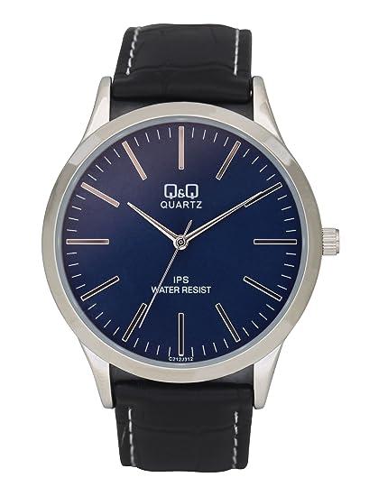 Q&Q Reloj para Hombre, Modelo C212J312Y. Reloj de Metal, Correa de Color Negro