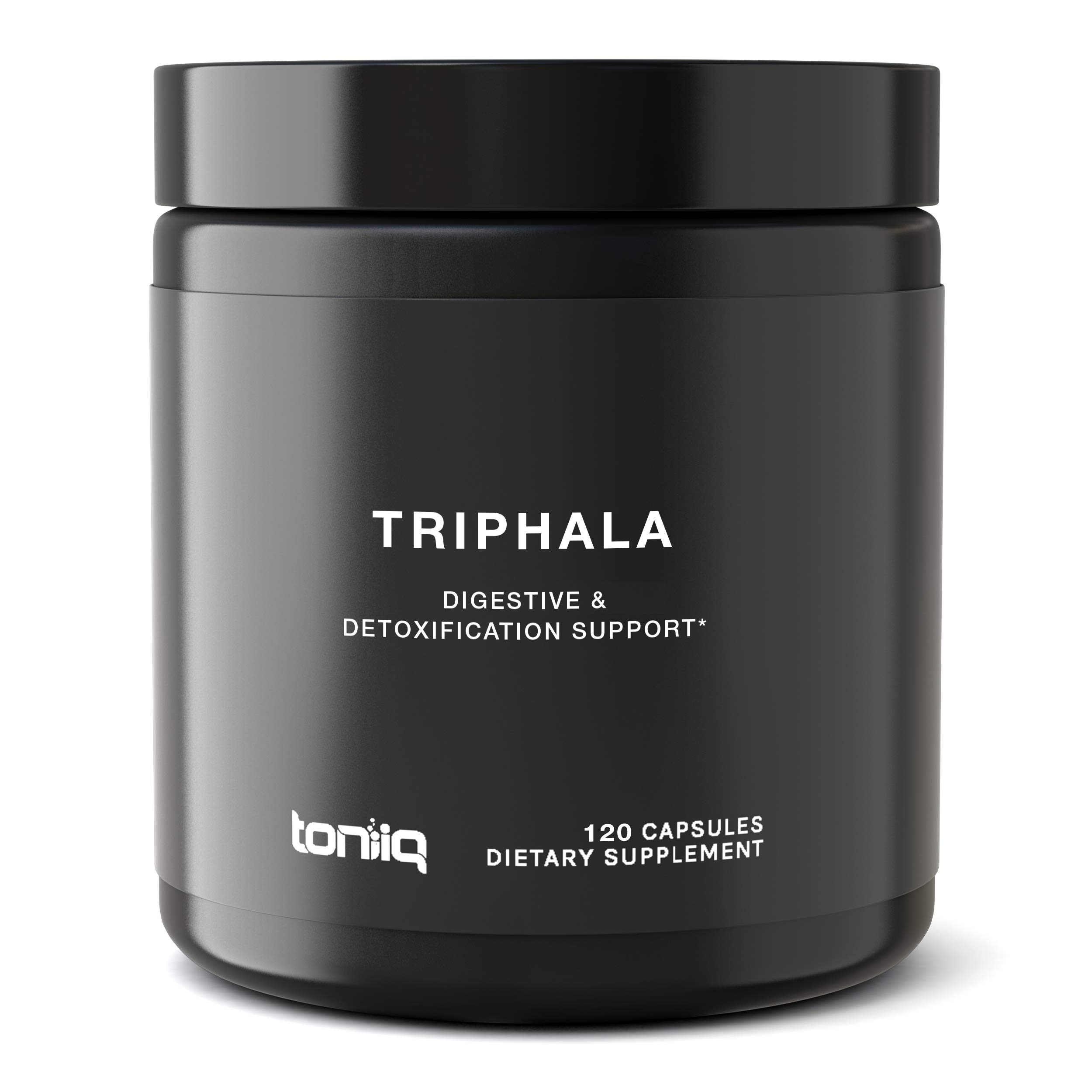 Ultra High Strength Indian Triphala Capsules - 1200mg - 50% Tannins Extract - The Strongest Triphala Supplement Available - Optimal Digestive and Detoxification Support - 120 Veggie Caps