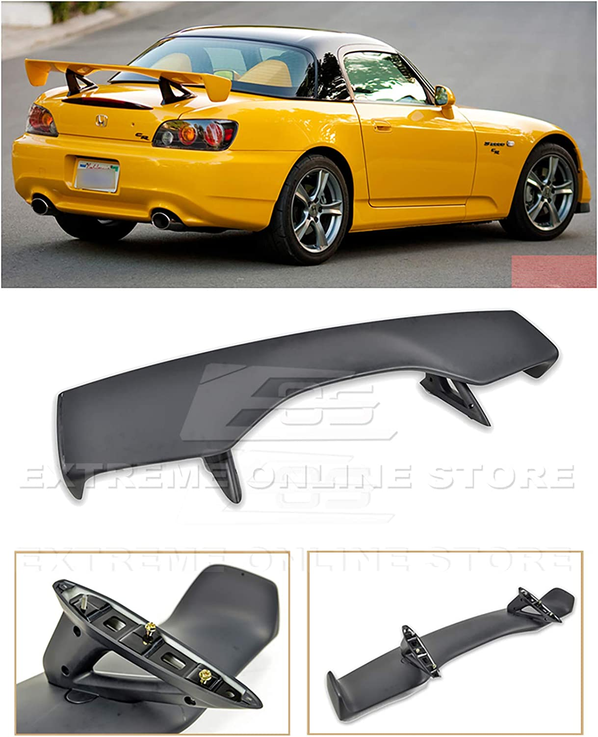 Extreme Online Store Replacement For 2000 2009 Honda S2000 Ap1 Ap2 Jdm Cr Style Abs Plastic Primer Black Rear Trunk Lid Wing Spoiler Automotive