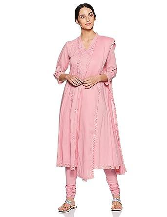 145f839c861 BIBA Women s Synthetic Straight Salwar Suit Set (SKD5914 Light Pink 36)