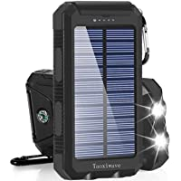 Solar Charger Solar Power Bank 20000mAh Waterproof Portable External Backup Outdoor Cell Phone Battery Charger with Dual…