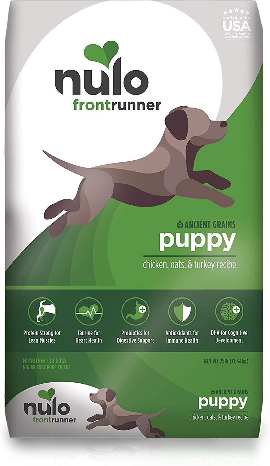 Nulo Frontrunner Dry Puppy Food - Premium Dry Kibble with Antioxidants and Probiotics for Digestive and Immune Health - for Small and Large Breed Dogs