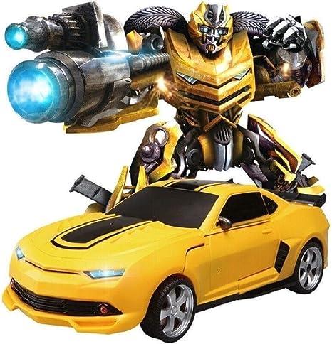 Juego mental Mini Deformación del coche robot 1:14 escala eléctrica Deformación de coches transformador juega el coche de un solo botón de deformación Robots Juguetes 360 ° de rotación del truco de