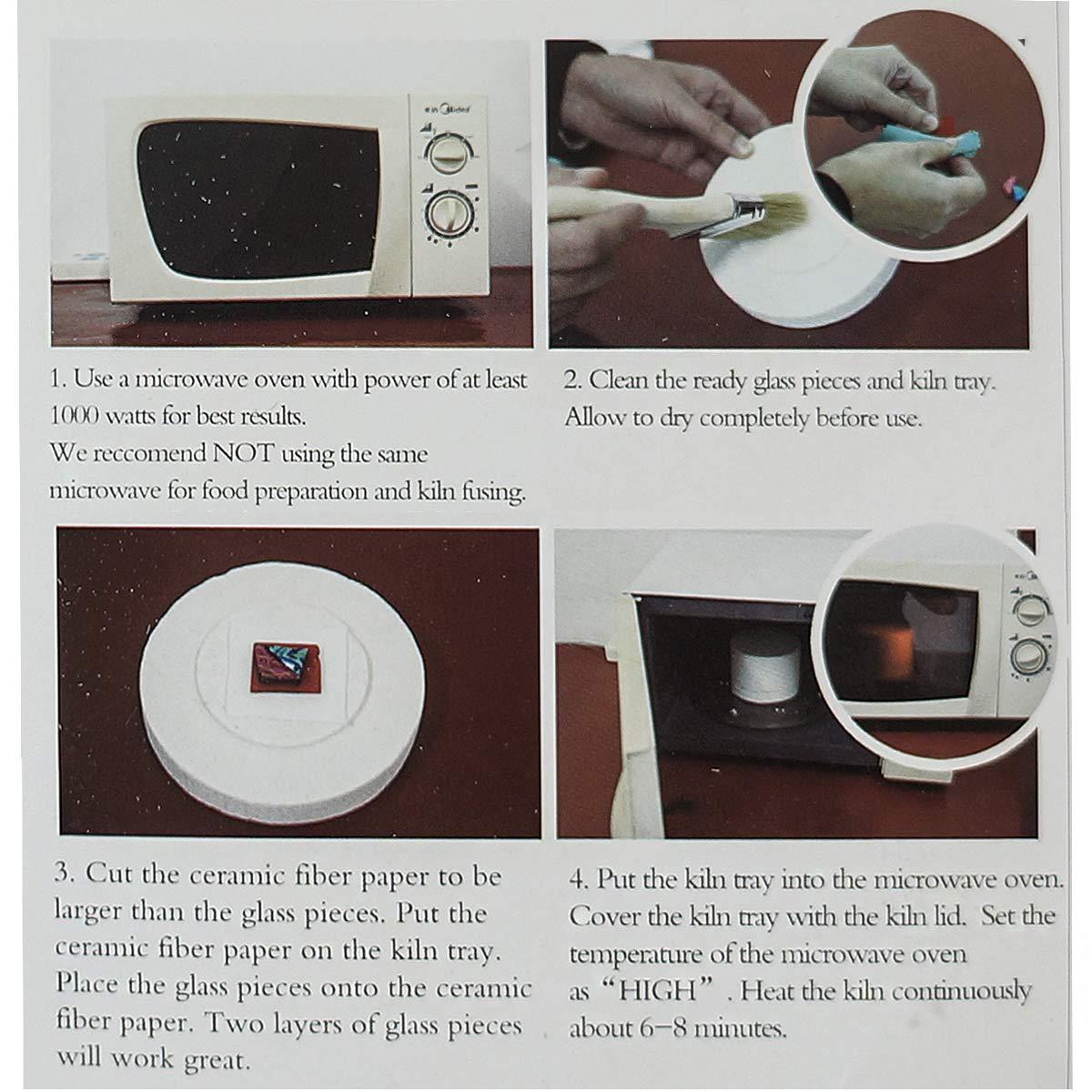 Microwave Kiln and DIY Fusing Glass Jewelry Set,Extra Large Microwave Kiln Kit For Fusing Glass Kiln 10 PCS Set,ROY ROJAS Professional Microwave Kiln Kit Set - for DIY Jewelry Glass Fusing Kiln tools by ROY ROJAS (Image #4)