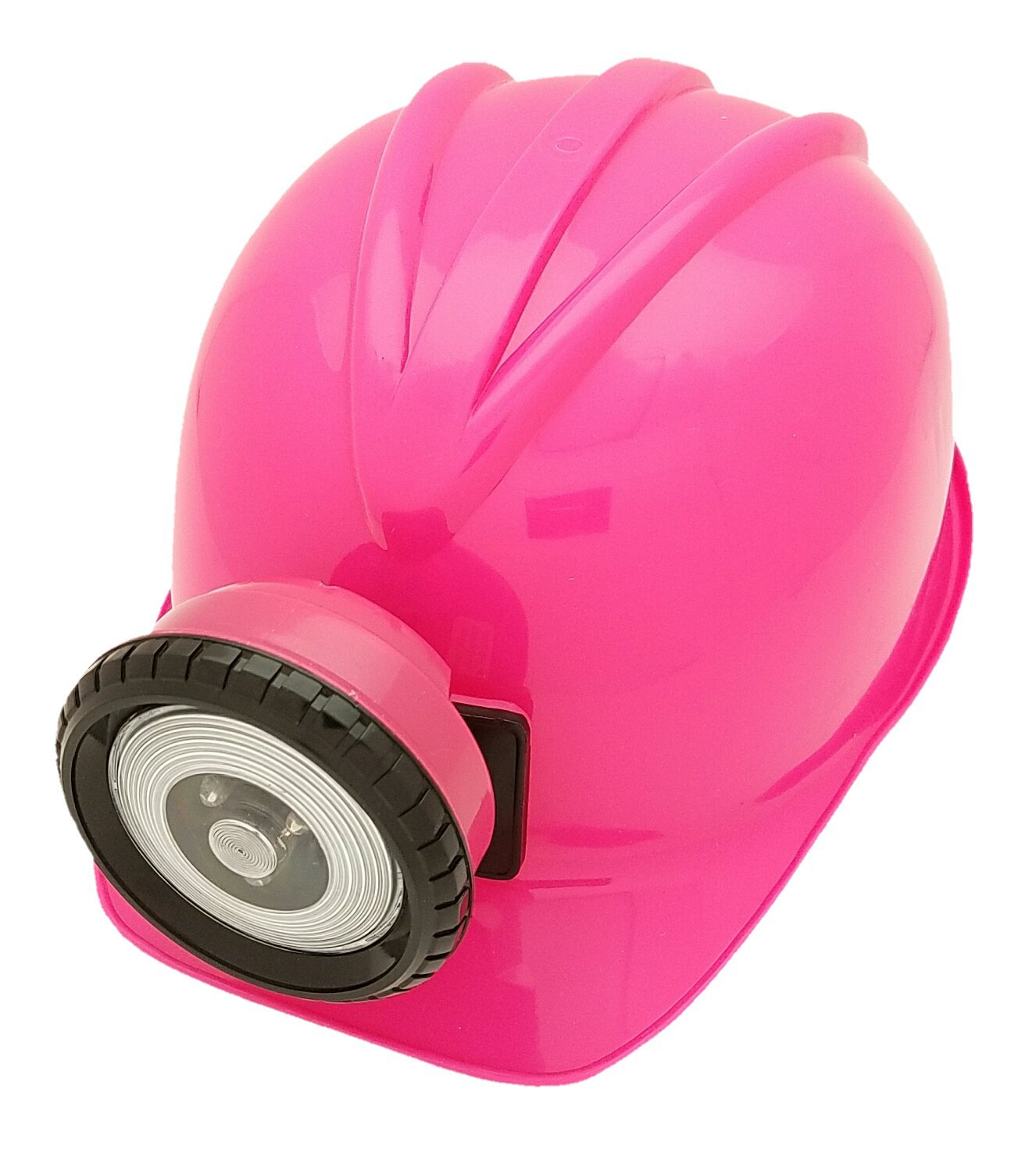 | Fully Adjustable Toy Hard Hats for Any Age Available in 6 Vivid Colors Squire Boone Village . batteries included Verisea PINK Explorer Miner Helmet with Bright Directional LED Lights