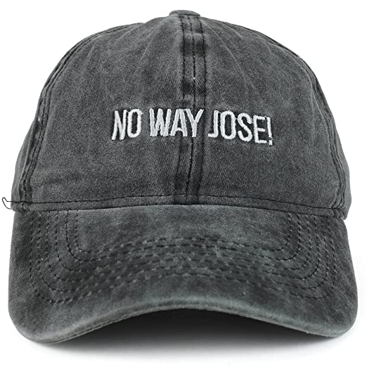 03d199da31177 Trendy Apparel Shop Way Jose Embroidered Unstructured Washed Cotton Dad Hat  - Black