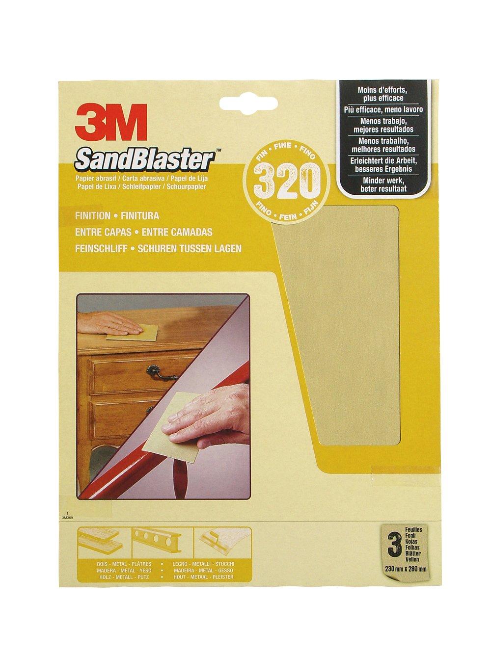 3M(TM) SandBlaster(TM) 60-320 - Papel de lija 4303