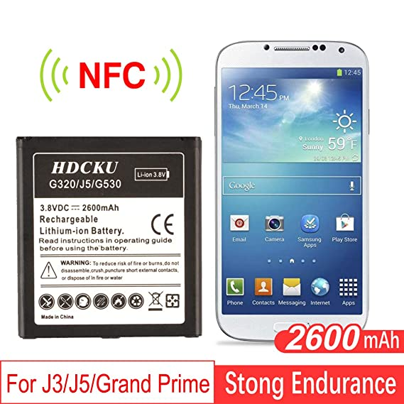 HDCKU Battery Replaccement Galaxy J3 J320J5 G500Grand Prime G530 2600mAh Li
