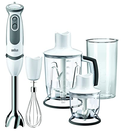 Braun Multiquick 5 Vario MQ 5045 WH Aperitive IdentityCollection - hand blender - white Hand Blenders at amazon