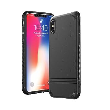 Kingriz Funda iPhone X, Funda iPhone XS, Carcasa Ligera Bumper Silicona Suave TPU Anti-Arañazos Anti-Golpes Protección de 360 Grados Caso Cover Case ...