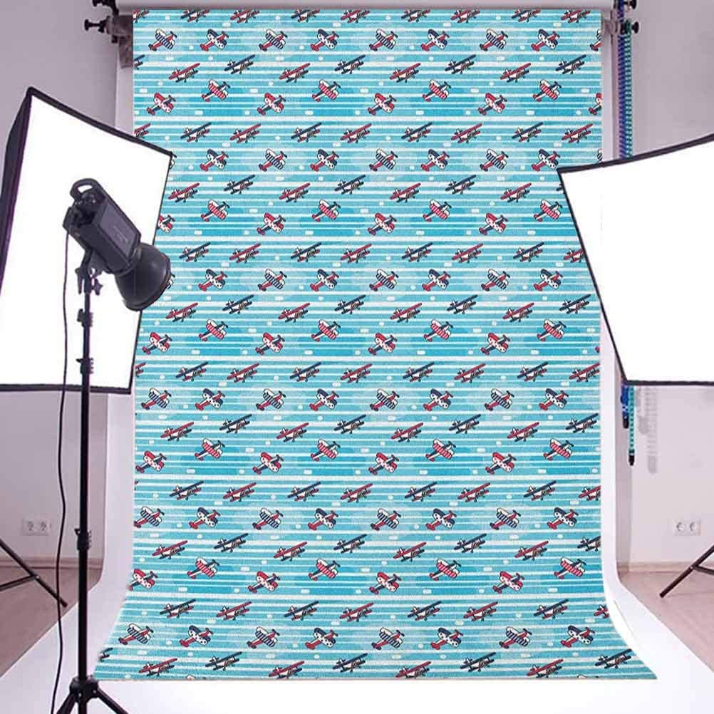 7x10 FT Teal Vinyl Photography Background Backdrops,Vintage Inspired Floral Design with Abstract Vibrant Colored Natural Elements Background for Selfie Birthday Party Pictures Photo Booth Shoot