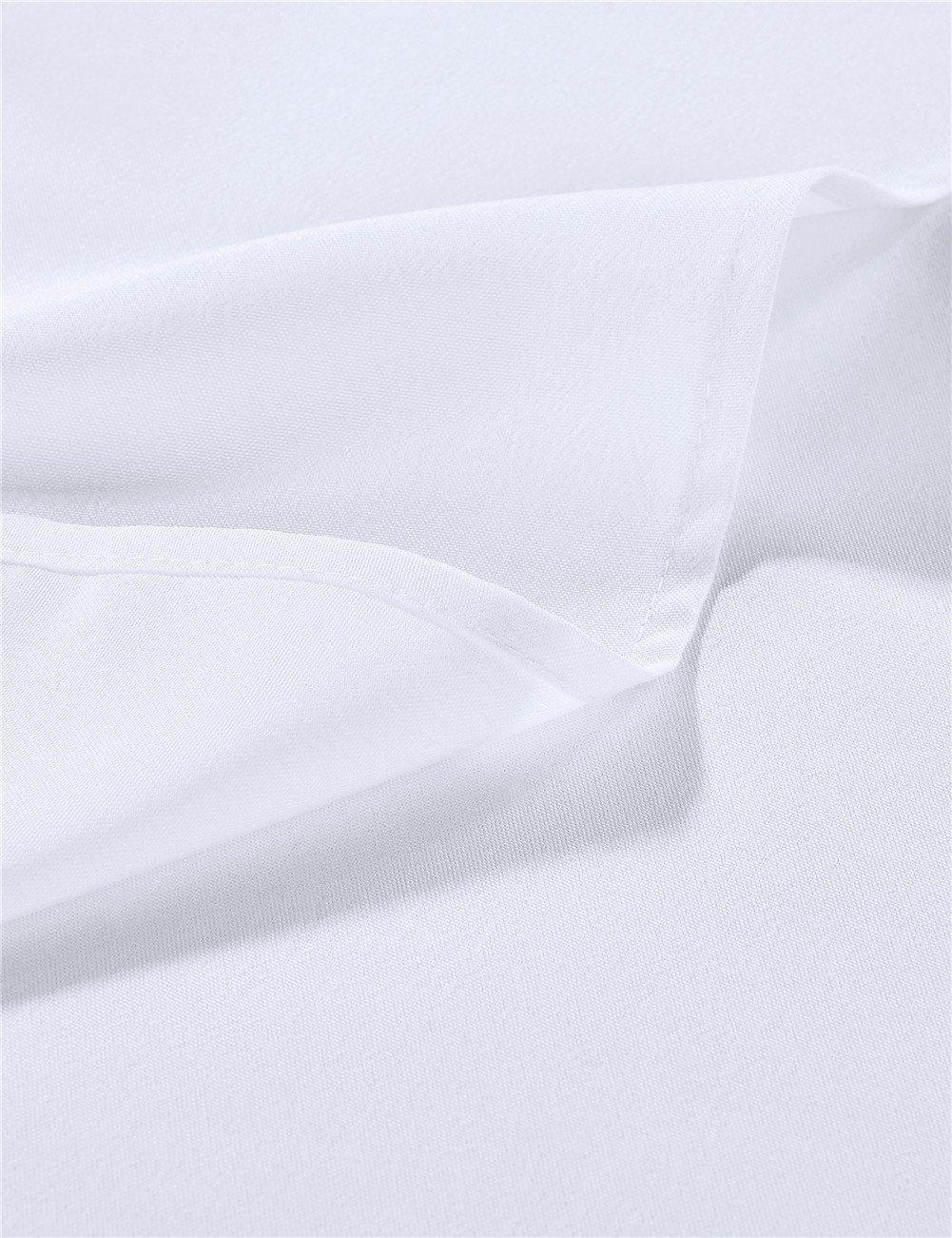 Cieltown Polyester Cloth Napkins 1-Dozen (17 x 17-Inch, white) by cieltown (Image #4)