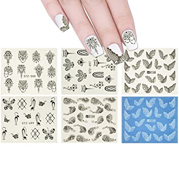 Amazon Com Allydrew 10 Sheets Henna Nails Mehndi Nails Water Slide