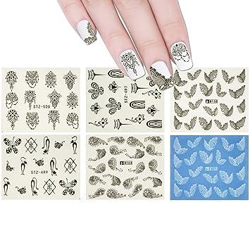 Amazon Com Allydrew 10 Sheets Henna Nails Mehndi Nails Water Slide