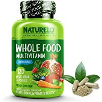 NATURELO Whole Food Multivitamin for Men 50+ - with Vitamins, Minerals, Organic Herbal Extracts - Vegan Vegetarian - for…
