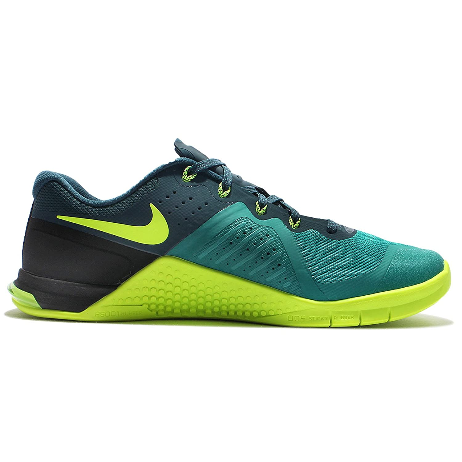 reputable site a2708 bf515 NIKE Mens Metcon 2 Synthetic Trainers Rio Teal   Volt-midnight Turq-black