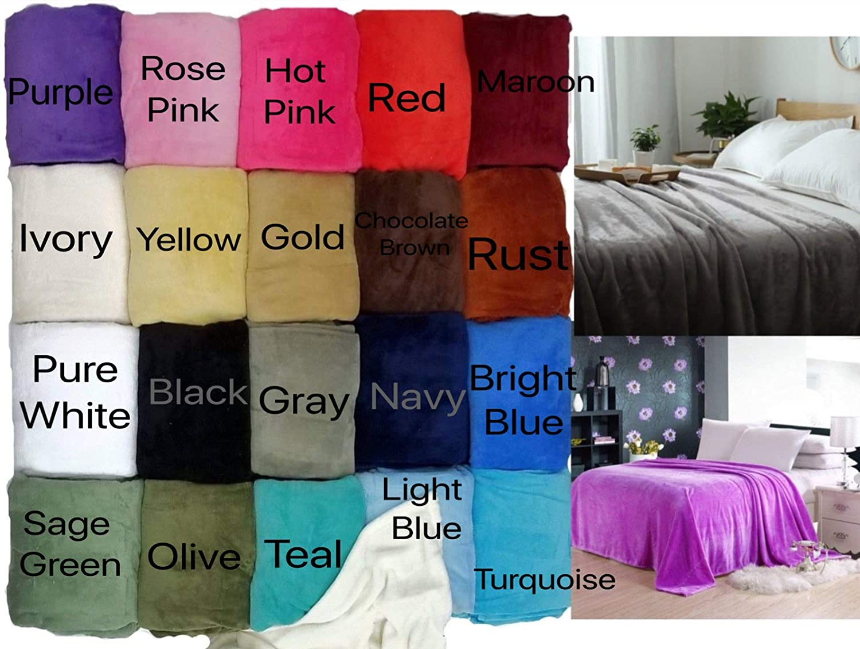 Empire Home Essentials - Super Soft Warm Blanket (Navy, Queen Size)