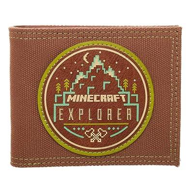 Bioworld Merchandising - Portefeuille Officiel Minecraft Explorer, Carteras Unisex adulto, Marrón (Marron)