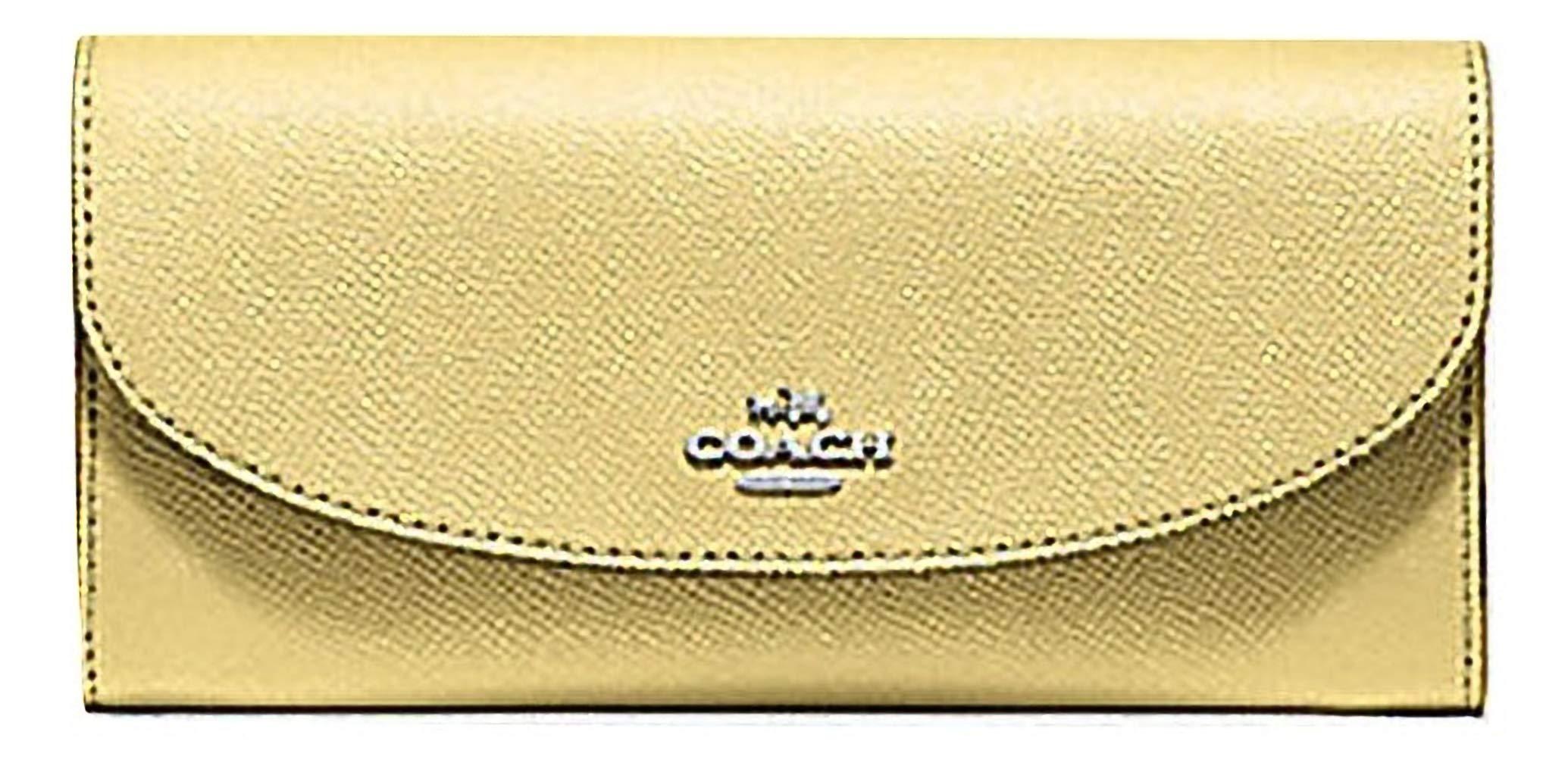Coach Crossgrain Leather Slim Envelope Wallet - F54009 (Yellow)