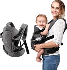 Baby Convertible Carrier, All Carry Position Newborn to Toddlers Ergonomic Carrier with Soft Breathable Air Mesh and All Adjustable Buckles