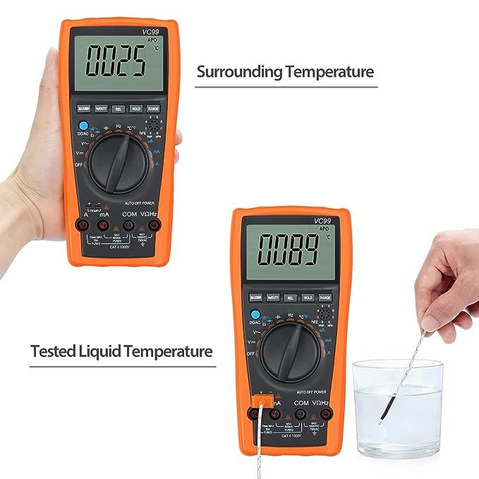 Neoteck VC99 5999 Digital Auto Range Multimeter Tester Voltmeter Ammeter with temperature Function
