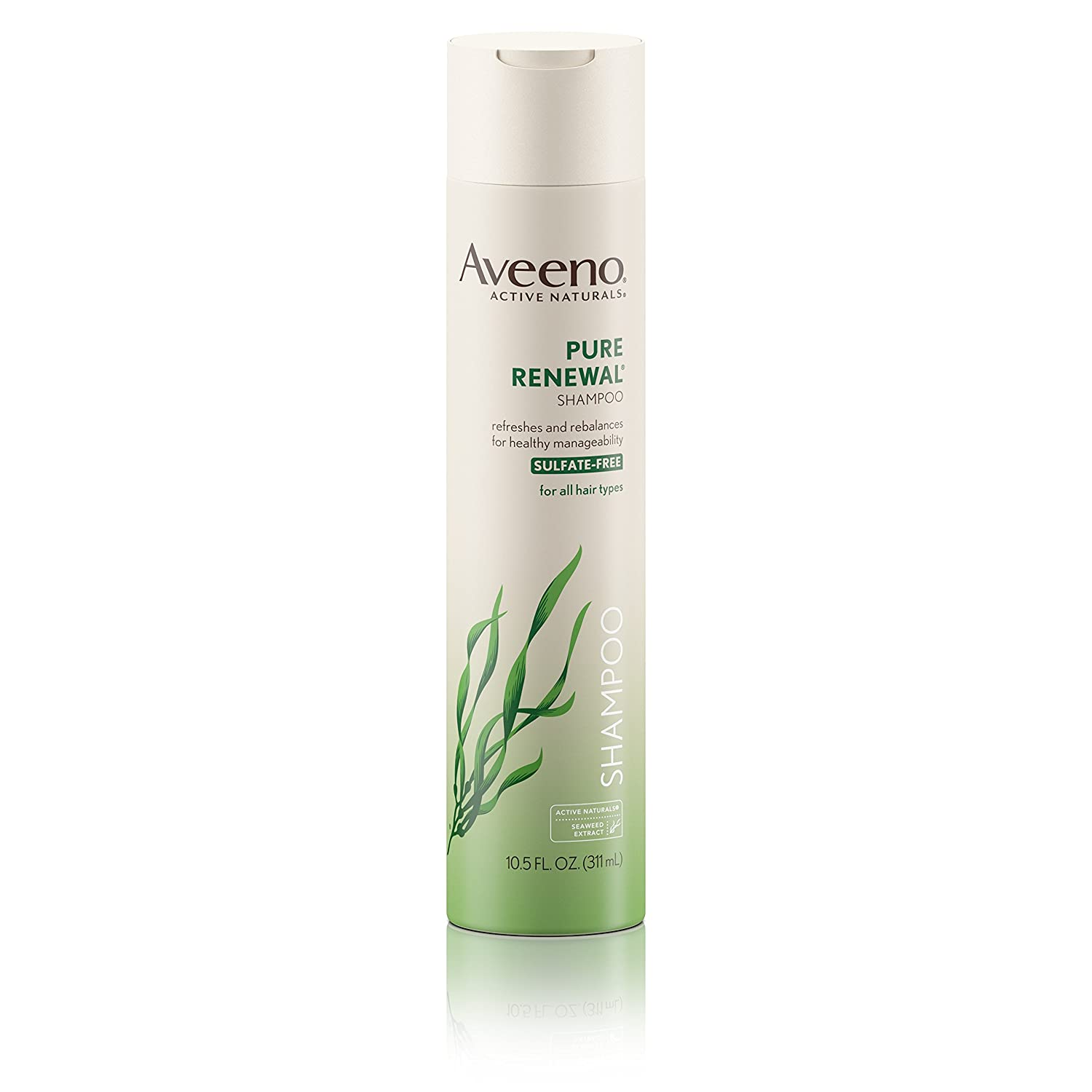 Aveeno Shampoo Pure Renewal (Sulfate-Free) 10.5 Ounce (310ml) (6 Pack)