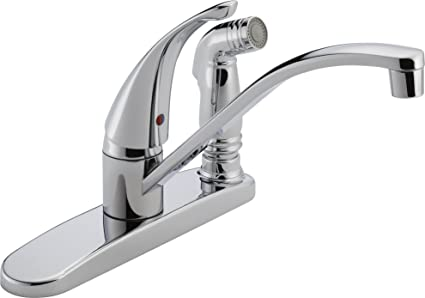 Peerless P188400LF Choice Single Handle Kitchen Faucet, Chrome ...