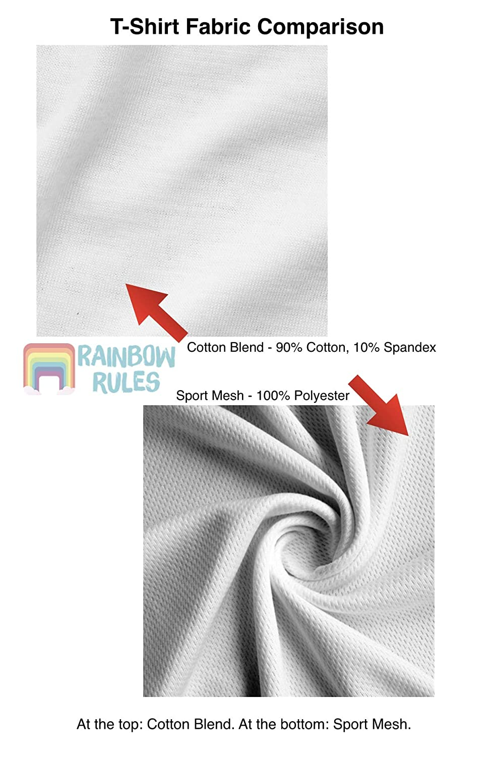 Rainbow Rules Counting Sheep Kids Cotton Blend T-Shirt Unisex