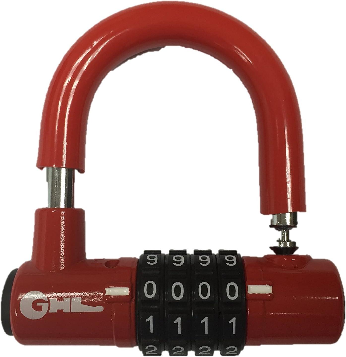 Kurtzy Antivol en U 160mm à Code 4 Chiffres Cadenas pour Usage Extérieur et I