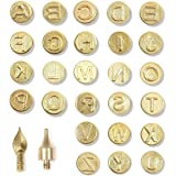 Wood Burning Tools, Uppercase Alphabet Branding (28 Pieces)