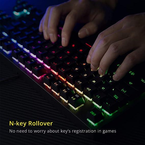 DREVO Tyrfing V2 Teclado Mecánico Gaming, 88 Key Distribución QWERTY Español, RGB retroiluminado Tenkeyless,con Programa Multimedia y Soporte de ...