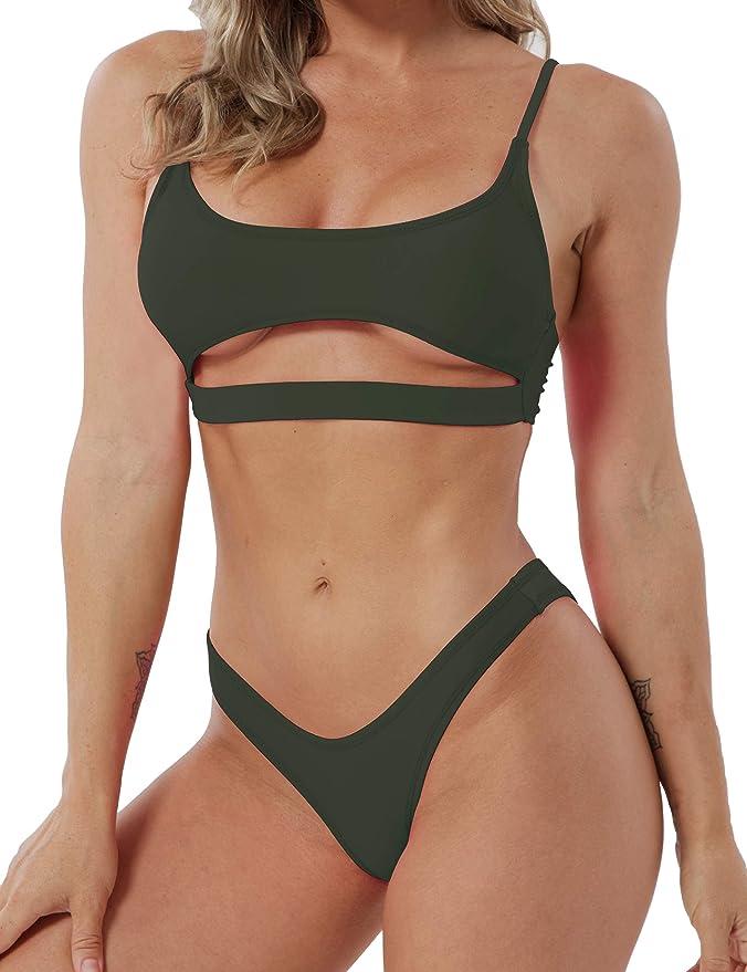 YUANRANER Womens Swimsuits Bikini Set Sexy 2 Piece Bandeau Push up Padded Bikini Bathing Suits   Amazon