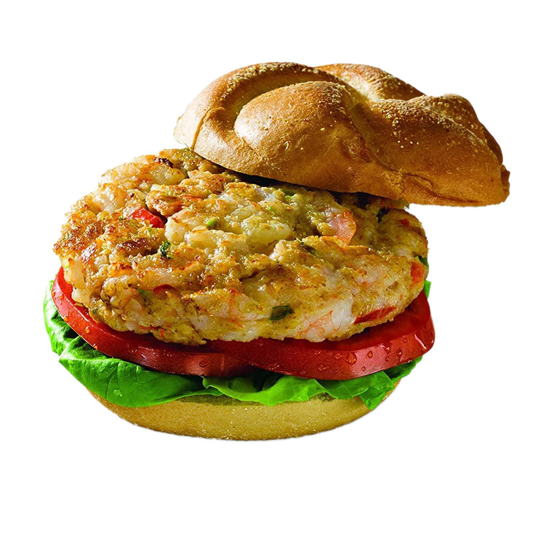 Big Shake's Classic Frozen Shrimp Grill Burger Patties - Perfect Frozen Keto-Friendly Fish Shrimps 27 Whole Shrimp Burgers