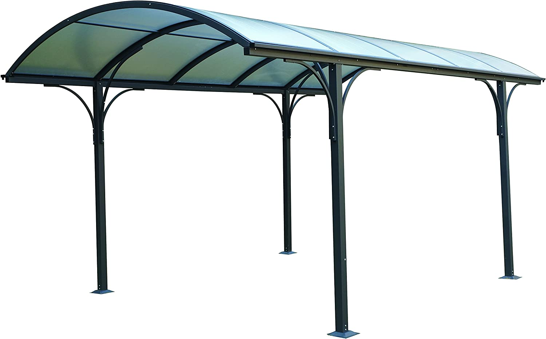 Eurobrico - Pérgola de exterior de policarbonato y aluminio, 485 x ...