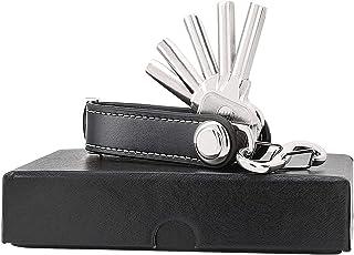 Sinwind Compact Key Organizer Portachiavi pelle portatile Organizer (marrone)