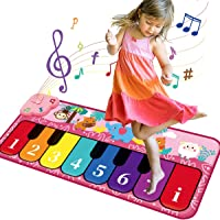 GILOBABY Kid Music Toys Musical Piano Mats Floor Piano Keyboard Play Mat Child Electronic Touch Play Carpet Portable…