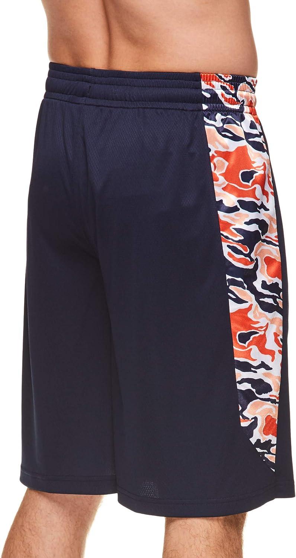 AND1 Mens Basketball Gym Fitness /& Running Shorts with Elastic Waistband /& Pockets Medium 5 Borough Peacoat Blue