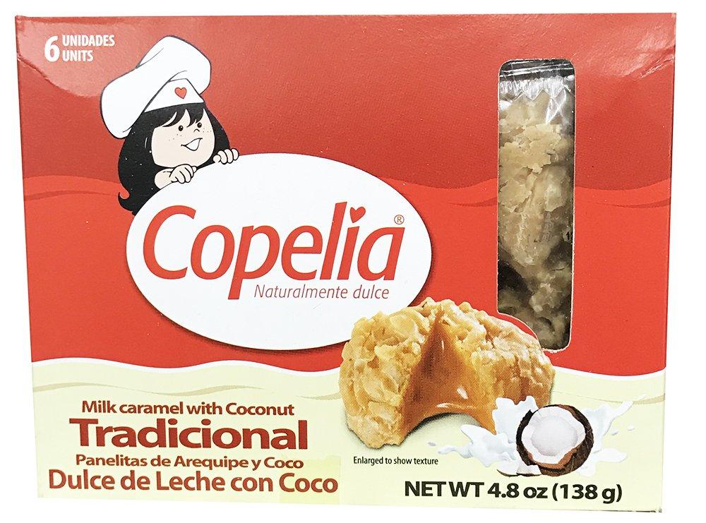 Amazon.com : Copelia Milk Caramel with Coconut 4.8oz Panelitas de Arequipe y Coco - Dulce de Leche con Coco : Grocery & Gourmet Food