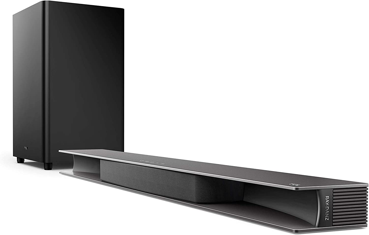 TCL Alto 9+ 3.1 Dolby Atmos Sound Bar with RAY·DANZ Technology, Wireless Subwoofer, WiFi, Bluetooth, Works with Hey Google Plus Chromecast Built-in – Black, TS9030-NA