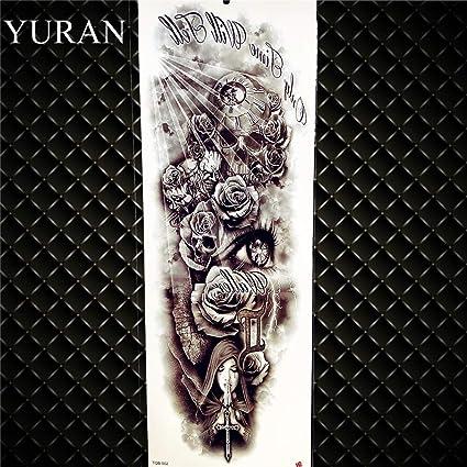 Tatuaje de flor de tigre de brazo completo tatuaje hombre dama ...