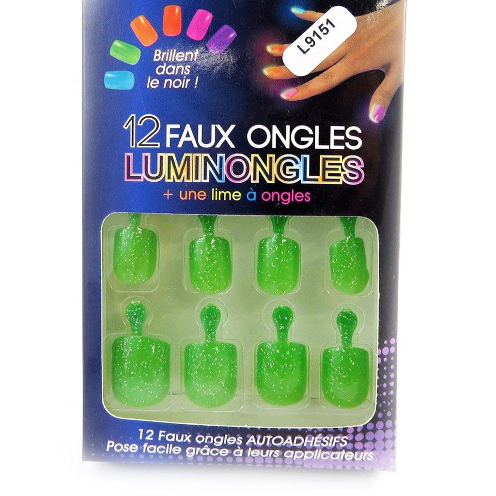 Plank false nails 'Luminongles' green. Les Tresors de Lily 080101RES112014L915100